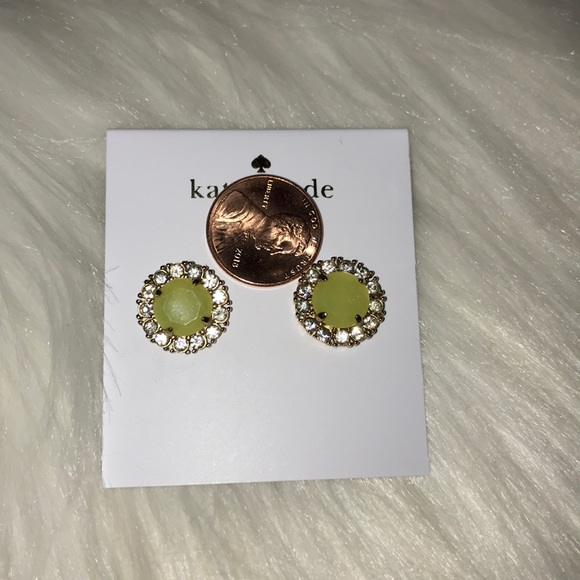 Kate Spade ♠️ Gold-Tone Round Crystal Stud Earring